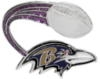 BALTIMORE RAVENS PIN FOOTBALL GLITTER TRAIL PIN