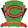 CHICAGO BEARS PIN FOOTBALL LOGO FIELD PIN