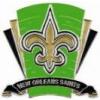 NEW ORLEANS SAINTS PIN FOOTBALL LOGO FIELD PIN
