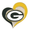 GREEN BAY PACKERS PIN FOOTBALL SWIRL HEART PIN