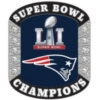 NEW ENGLAND PATRIOTS SUPER BOWL 51 CHAMP RING PIN