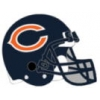 CHICAGO BEARS PIN FOOTBALL HELMET PIN