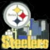 PITTSBURGH STEELERS PIN CITY SCENE PIN