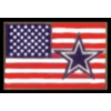 DALLAS COWBOYS PIN USA FLAG COWBOYS PIN