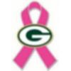 GREEN BAY PACKERS PINK RIBBON PIN BREAST CANCER AWARENESS PIN