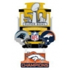 DENVER BRONCOS SUPER BOWL 50 CHAMPION LARGE DANGLE PIN