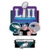 PHILADELPHIA EAGLES SUPER BOWL 52 CHAMPION LARGE DANGLE PIN