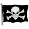 PIRATE FLAG PIN SKULL AND CROSSBONES PIN