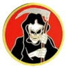GRIM REAPER PIN ROUND PIN