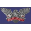 BAD TO THE BONE PIN EAGLE PIN