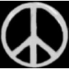PEACE SIGN PIN SILVER CUTOUT PEACE PIN