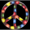 M&M'S CANDY PIN PEACE SIGN PIN