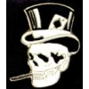 SKULL WITH TOPHAT AND CIG PIN