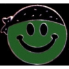 SMILELY FACE GREEN WITH BLACK BANDANA PIN