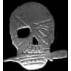 SKULL WITH KNIFE PIN