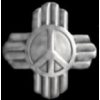 PEACE SIGN PIN WITH RAYS ART DECO TYPE PIN