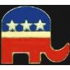 REPUBLICAN PARTY ELEPHANT ENAMEL PIN