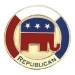 REPUBLICAN PARTY ELEPHANT RED WHITE AND BLUE PIN