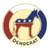 DEMOCRAT PARTY PIN DEMOCRATIC DONKEY RED WHITE AND BLUE PIN