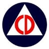 UNITED STATES CIVIL DEFENSE LOGO PIN