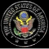GREAT SEAL OF THE USA BLACK PIN