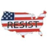 RESIST UNITED STATES COUNTRY POLITICAL PIN
