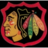 CHICAGO BLACKHAWKS HOCKEY SHIELD PIN