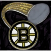 BOSTON BRUINS PIN PUCK GLITTER TRAIL PIN