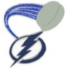 TAMPA BAY LIGHTNING PIN PUCK GLITTER TRAIL PIN