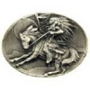 INDIAN BRAVE ON HORSEBACK CAST PIN