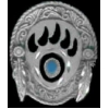 BEAR PAW PIN CAST INDIAN STYLE SHIELD PIN