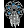 DREAMCATCHER PIN WITH FEATHERS CAST INDIAN MOTIF PIN