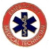 EMT PIN EMERGENCY MEDICAL TECHNICIAN PIN RED RD