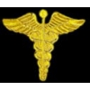 CADEUSES PIN GOLD MEDICAL CADEUSES LOGO PIN