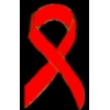 AIDS RED RIBBON CUTOUT PIN