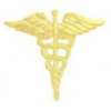 CADEUSES PIN GOLD MEDICAL CADEUSES CAST LARGE PIN