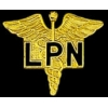 LICENSED PRACTICAL NURSE PIN LPN CADEUSES PIN GOLD