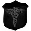 CADEUSES BLACK SUBDUED SHIELD LOGO PIN DX