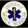 EMT ROUND LOGO W EMERGENCY MED TECH PIN