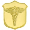 CADEUSES GOLD SHIELD LOGO PIN