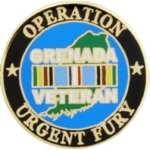 OPERATION URGENT FURY GRENADA VETERAN PIN
