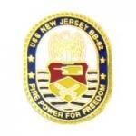 USN NAVY USS NEW JERSEY BB-82 LOGO PIN