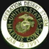 USMC MARINE CORPS OPERATION DESERT STORM PIN DATED ODS PIN