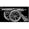 CANNON PIN FIELD ARTILLARY PEWTER PIN