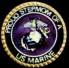 USMC MARINE CORPS PROUD STEPMOM OF A MARINE PIN