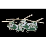 CH-46 SEA KNIGHT PIN HELICOPTER CAMI PAIR OF PHROG HELIOS PINS