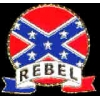 CONFEDERATE REBEL EMBLEM PIN