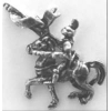 MEDIEVAL KNIGHT PIN WITH LANCE ON HORSE PIN