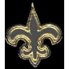 FLEUR DE LIS SILVER AND GOLD PIN