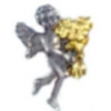 GET WELL & BEST WISHES FLOWERS PIN GUARDIAN ANGEL PIN DX